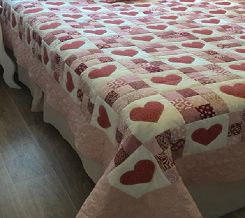 Quilted Heart Patchwork Blanket Crochet Spiration