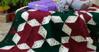 Beautiful christmas blanket