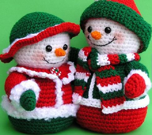 10 Crochet Amigurumi Snowman Free Patterns | Noël crochet, Crochet ... | 434x488
