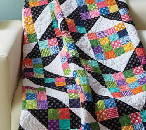 Quilt Colorful Square Patchwork