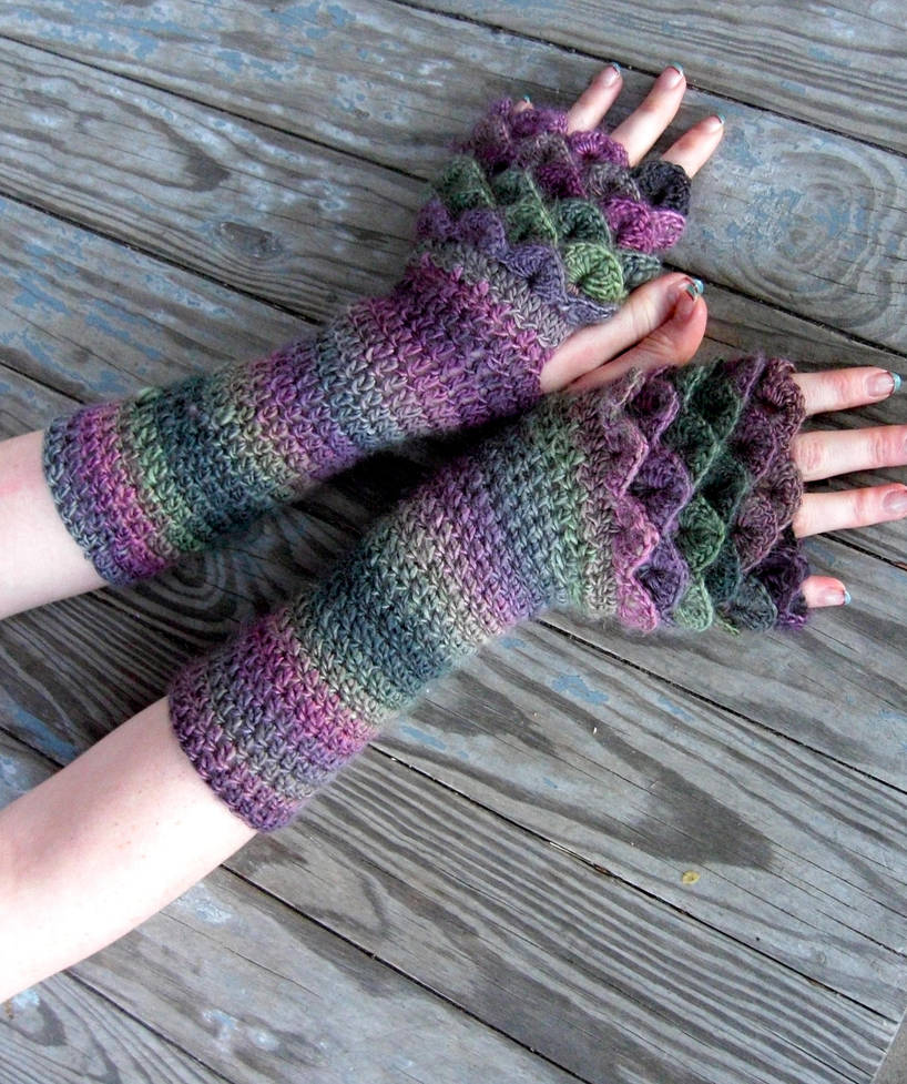 Crochet Dragon Gloves Crochet Spiration
